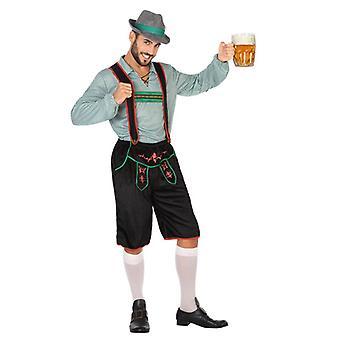 Aikuisten puku Saksan vihreä (2 kpl)