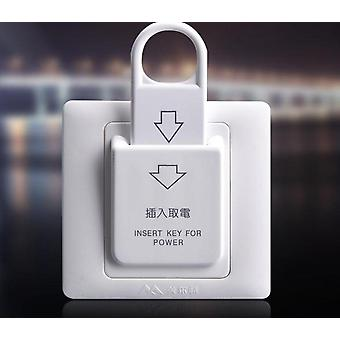 Hotel Magnetic Card Electric Push Button Insert Key Power Control Socket