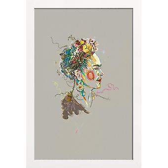 JUNIQE Print - Frida 2 - Frida Kahlo Poster in Colorful