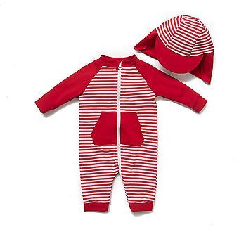Baby barn Ett stykkeSwimsuits UPF 50+ Solbeskyttelse 3/4 Ermer Soldress med glidelås