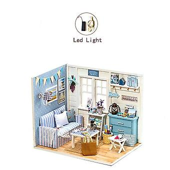 New year christmas gifts doll house diy miniature dollhouse toy furnitures casadolls houses toys for childred birthday giftsz007