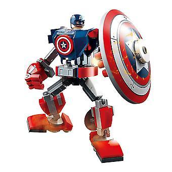 12cm Disney Avengers Captain America geassembleerd bouwsteen speelgoed