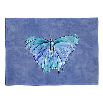 Caroline's Treasures 8855PLMT Schmetterling auf schieferblauem Stoff Tischset, mehrfarbig