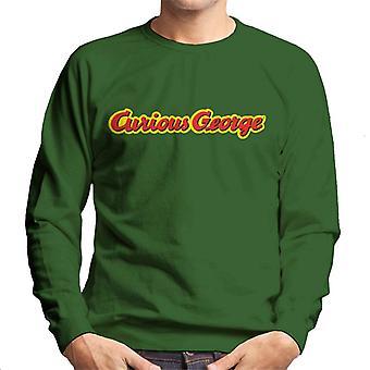 Curiosa felpa uomo con logo George Classic