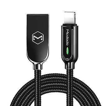 Mcdodo CA-5263 Smart Series Auto Disconnect 8 Pin to USB Cable, Lunghezza: 1.8m(Nero)