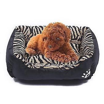 Tier Korn vier Jahreszeiten echte warme Haustier Hund Kennel Matte, Größe: XXL, 95×72×18cm(Schwarz)