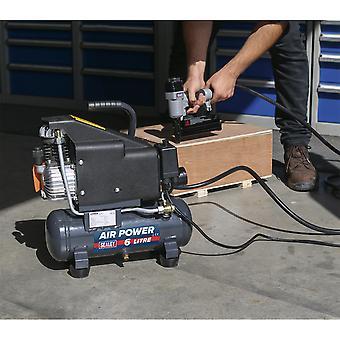 Sealey Sac0610Ekit Air Nail/Staple Gun Kit - Kompressori, letku ja naulain