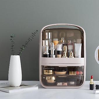 Desktop make-up box grote capaciteit waterdichte stofdichte badkamer opberglade Beauty Cosmetic