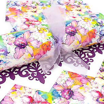 10 Aquarell Orchid Cracker Kit - Make & Fill Your Own