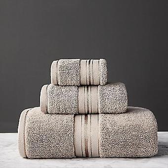 3 Stück Set aus 100% ägyptischer Baumwolle Badetücher (3pcs Handtuch Set) (6)