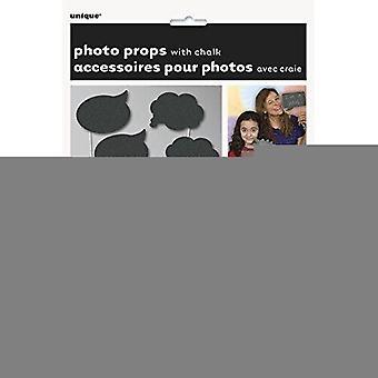 63566 - Chalkboard Photo Booth Requisiten, 8er Pack