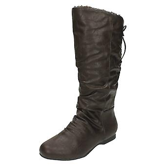 Ladies Coco Calf Length Lace Up Fur Lined Boot L9334