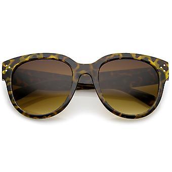 Cuerno de gran tamaño de las mujeres con montura gafas de sol de ojo ancho templo Cat 56mm