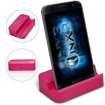 Huawei Honor Holly Desktop USB Base Stand Data Sync Charging Dock Station (Pink)