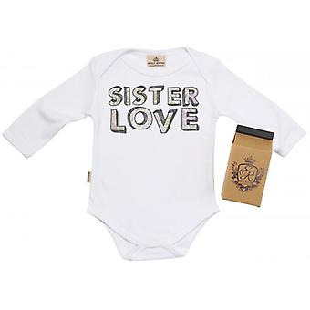 Spoilt Rotten Sister Love Baby Grow 100% Organic In Milk Carton