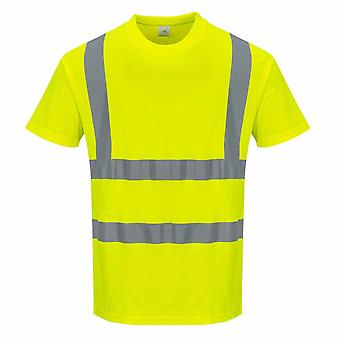 sUw - leichte Baumwolle Komfort kurze Ärmel reflektierende t-Shirt mit Rundhalsausschnitt