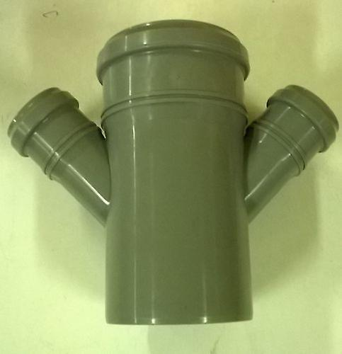 Soil Pipe 110 mm - Double Branch With Two 45 degree 50 mm Inlets - Push-Fit - 4''