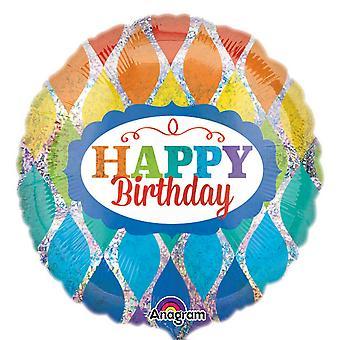 Anagram 18 inch Rainbow verjaardag holografische cirkel folie ballon
