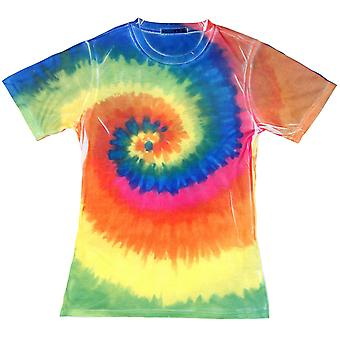Colortone Womens/Ladies Short Sleeve Rainbow Tie Dye T-Shirt