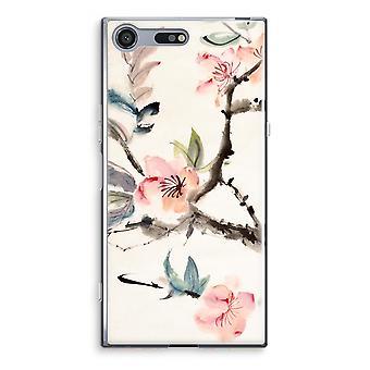 Sony Xperia XZ Premium gjennomsiktig sak (myk) - Japenese blomster