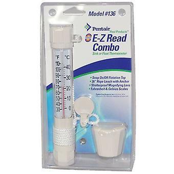 Pentair R141200 EZ lire Combo évier ou flotter thermomètre