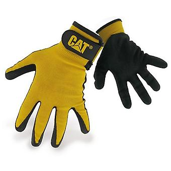 CAT Workwear Mens Workwear 17416 Nitrile Coated Adjustable Cuff Gloves