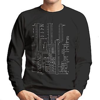 Atari 2600 Computer Schematic Men's Sweatshirt