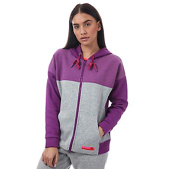 Donna adidas Stellasport Zip Hoody In Pop viola / Medium Grey Heather
