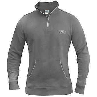 Bad Boy Quarter Zip Pullover - grau