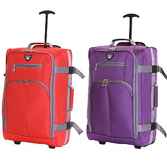 Slimbridge Lobos cabine Trolley tas, (SET van rood & paars)