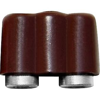 BELI-BECO 61/17br Mini jack socket Connector, straight Pin diameter: 2.6 mm Brown 1 pc(s)