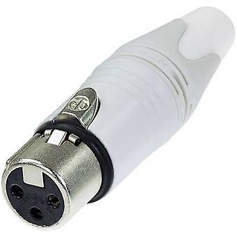 Neutrik NC3FXX-WT XLR-kontakt uttag, rak antal stift: 3 vit 1 dator