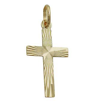 Confirmación de comunión de boda colgante cruz diamante colgante de la Cruz. 9 KT ORO 375