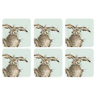 Pimpernel Wrendale Hare onderzetters Set van 6
