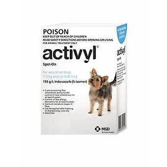 Activyl Spot-on 100mg For Very Small Dogs 1.5-6.5 kg (4-14 lbs)