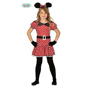 Süße Comic Maus Kostüm für Mädchen Kleid Karneval