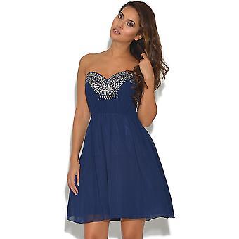 Poco amante Marina adornado vestido de fiesta