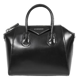Givenchy Antigona in pelle di vitello cuoio Satchel Bag | Nera con Hardware d'argento | Piccolo