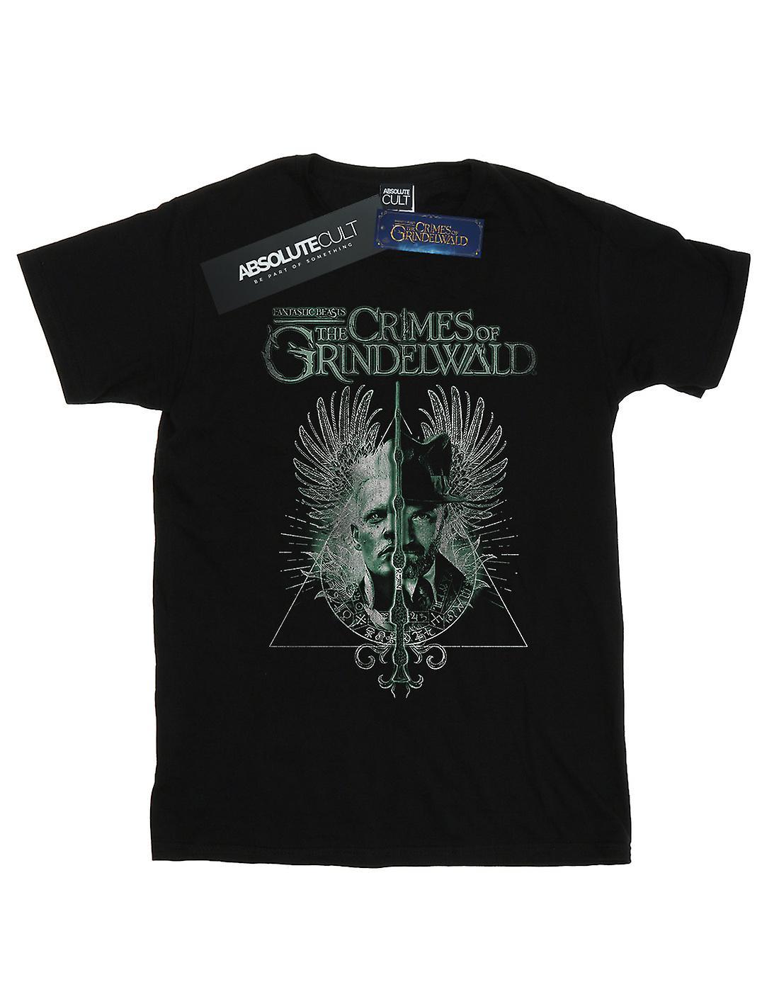 Fantastic Beasts Women's The Crimes Of Grindelwald Wand Split Boyfriend Fit T-Shirt
