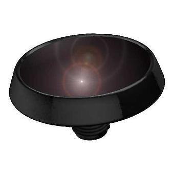 Micro-Dermal Anchor topp platt skiva mörkt svart, piercingsmycken