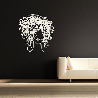زهرة فتاة الشعر ملصق حائط