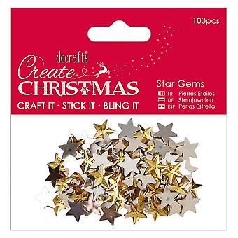 DoCrafts Papermania Star Gems 100 goud