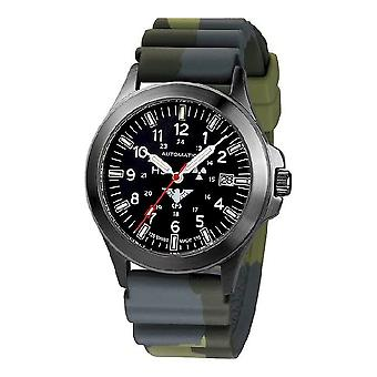 KHS orologi mens orologio nero automatico KHS del plotone. BPA. DC3