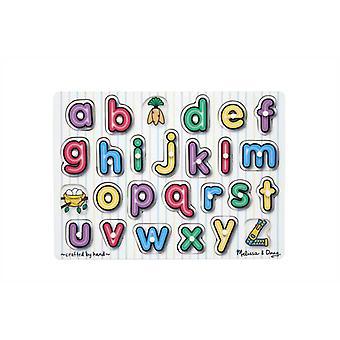מליסה & דאג לראות בתוך האלפבית יתד פאזל