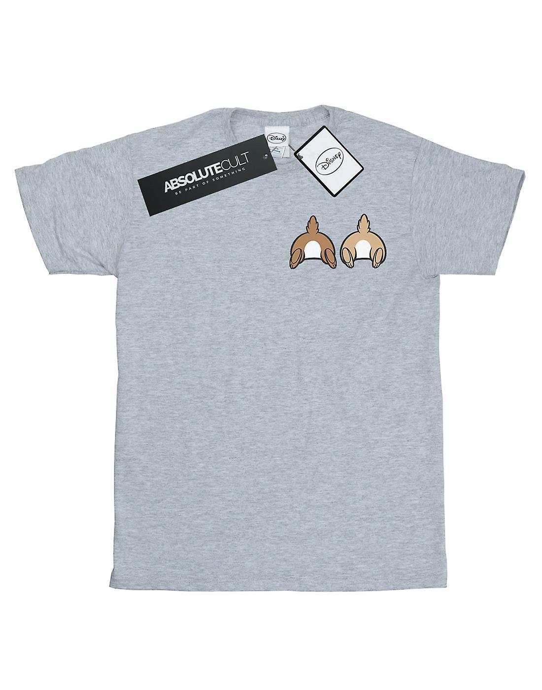Disney Women's Chip N Dale Backside Breast Print Boyfriend Fit T-Shirt