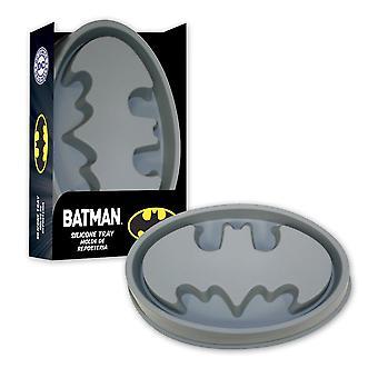 Batman Silikonbackform Logo grau, aus Silikon.