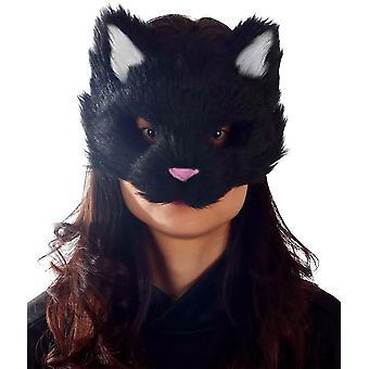 Черный котенок маска