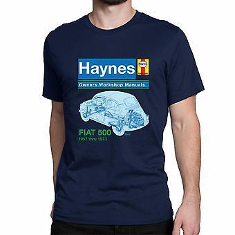 Officiële Haynes handmatige T-shirt Unisex FIAT 500 1957 tot 1973 eigenaren werkplaats handboeken