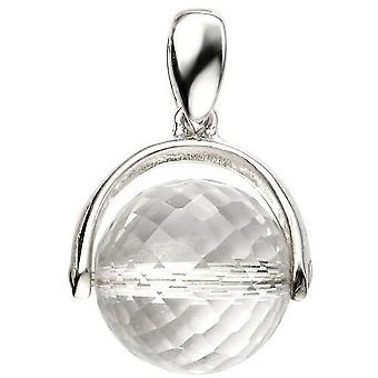 Inizii Crystal Ball ciondolo - chiaro/argento di filatura
