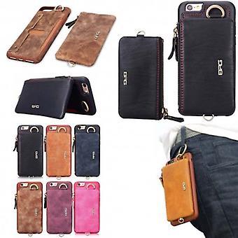 BRG Shell flyttbare 2i1 lommebok Iphone 6, 6s